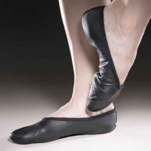 Fekete bőr balettcipő