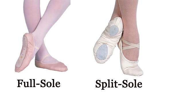Régebben a piskótatalpú balettcipőt használták, manapság, már kezdő szinttől is, a modernebb csepptalpas balett gyakorló cipőt használja mindenki.