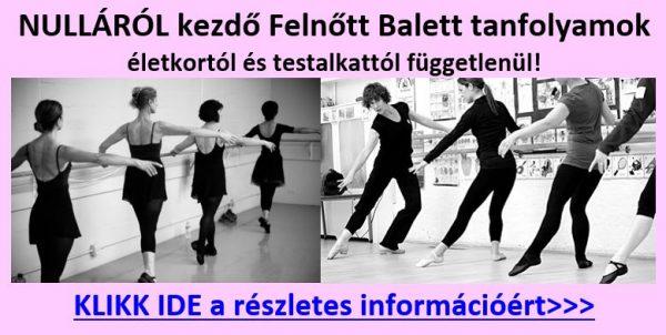 Nulláról kezdő felnőtt balett oktatás